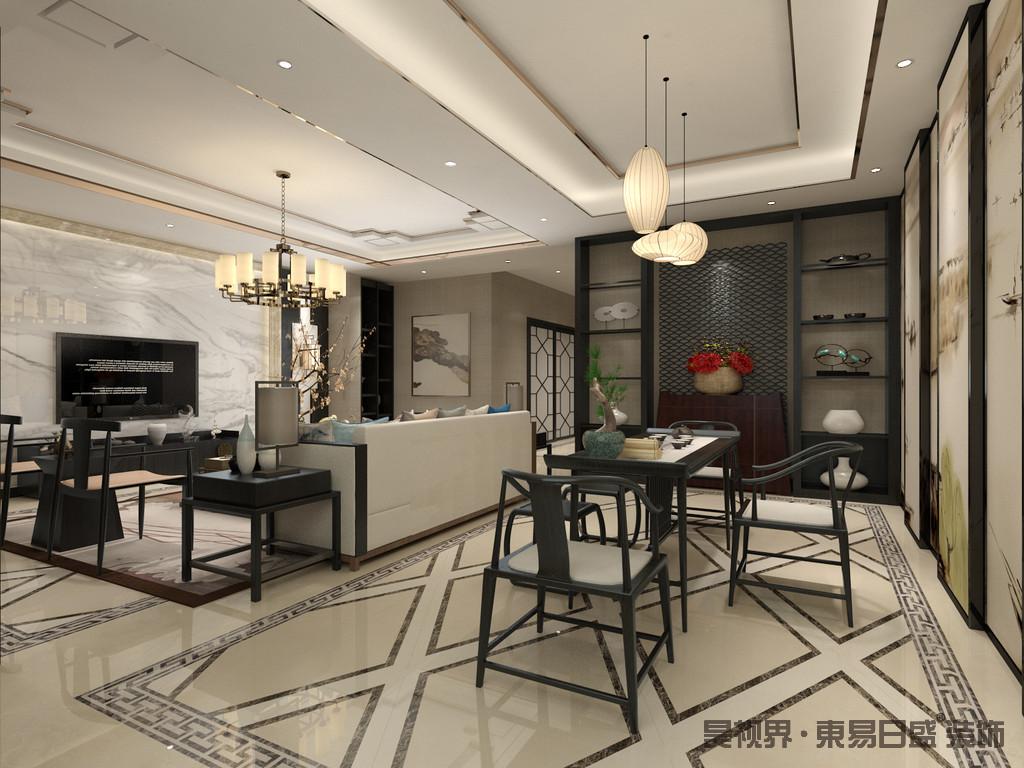 走进客厅,就能感受到主人对于生活的品质追求。 电视背景墙设置了储物装饰柜,满足日常的收纳需求。
