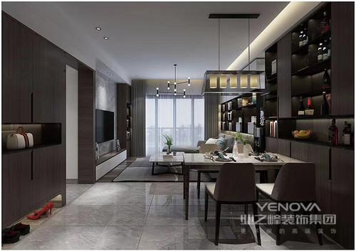 在这个四居室内,设计师以黑白为主色,通过空间划分、功能细分,给与主人一个舒适的三居室;不管是客厅的会客厅,还是书房的收纳,都以不同的设计形式,让空间格外饱满,收纳柜、飘窗等也成为设计的亮点,同时以恰当地比例使用灰色来装饰空间,更营造了一份安谧与沉静在这个四居室内,设计师以黑白为主色,通过空间划分、功能细分,给与主人一个舒适的三居室;不管是客厅的会客厅,还是书房的收纳,都以不同的设计形式,让空间格外饱满,收纳柜、飘窗等也成为设计的亮点,同时以恰当地比例使用灰色来装饰空间,更营造了一份安谧与沉静在这个四居室内