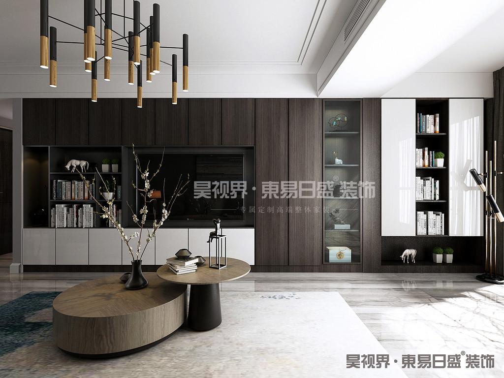 客厅背景墙整面柜延伸到阳台,增加储物空间外让客厅的视觉空间很舒服。入户墙体的改造,让入户有了合适的鞋柜储物空间,将设计的人性化体现得淋漓尽致。