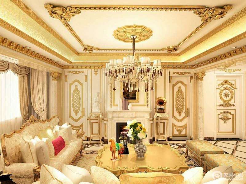 欧式风格从简单到繁杂、从整体到局部,精雕细琢,镶花刻金都给人一丝不苟的印象。