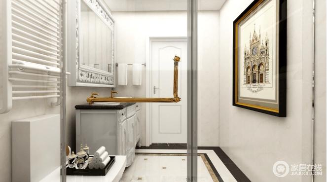 墙地砖采用大量的白色,整体明亮简洁,避免过度的繁琐设计,双盆的设计给主人带给了方便的操作空间。