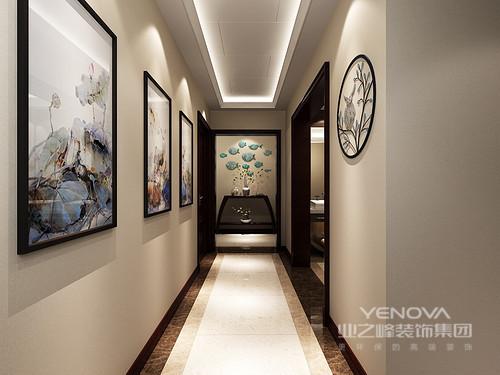 中式简洁设计打造出多层次立体空间