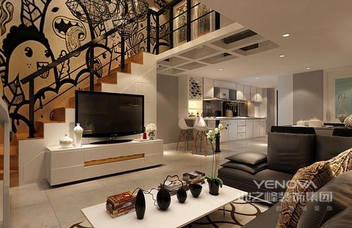 线条简约流畅,色彩对比强烈,通过黑白色调的家具,让家现代温馨之余,更为凝练。