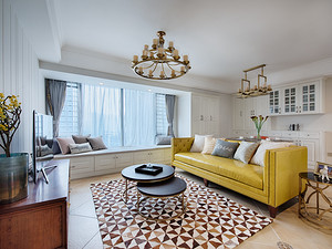 美式风格客厅装修效果图