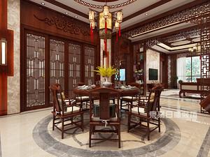 新中式风格餐厅装修效果图