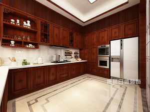新中式风格厨房装修效果图