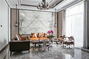 本案设计风格为新中式,设计师并未将太过厚重的中式元素加入在空间内,而是以温和的木色配合着自然元素的花鸟鱼虫壁画、印花系列构筑空间的田园气质。清新内敛的居室,适合恬淡的生活方式。