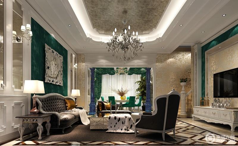 欧式风格别墅装修最大的特点是在造型上极其讲究,给人的感觉端庄典雅、高贵华丽,具有浓厚的文化气息。