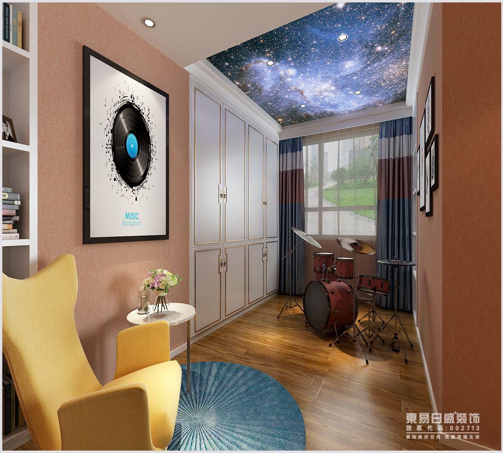 延续整个空间暖色调为基调,素雅却不平淡,在简洁的空间中,干净的线条和精致的床品一跃成为空间的主角。