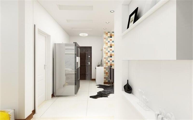 整个空间采用了白色系列,顶面做了简单的装饰,与各个区域划分明显,看上去明朗宽敞舒适的家,来消除工作的疲惫,忘却都市的喧闹。这也是现在流行的装修风格之一