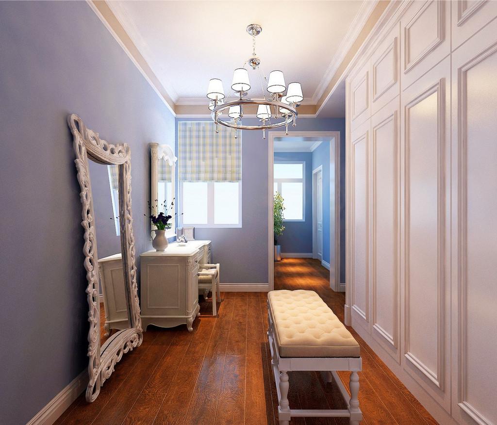 简单纯朴的象牙白色,宽敞的置物空间可最大容纳衣物,加上镜子的折射别有一番韵味。