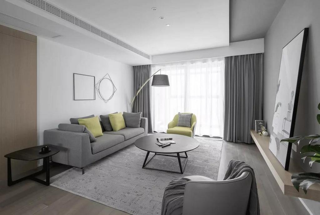 无论是射灯还是灯带,每一种灯光配合业主的生活习惯都会衍生出不同的效果。与低饱和度色调相结合,整体空间会更平实简约。