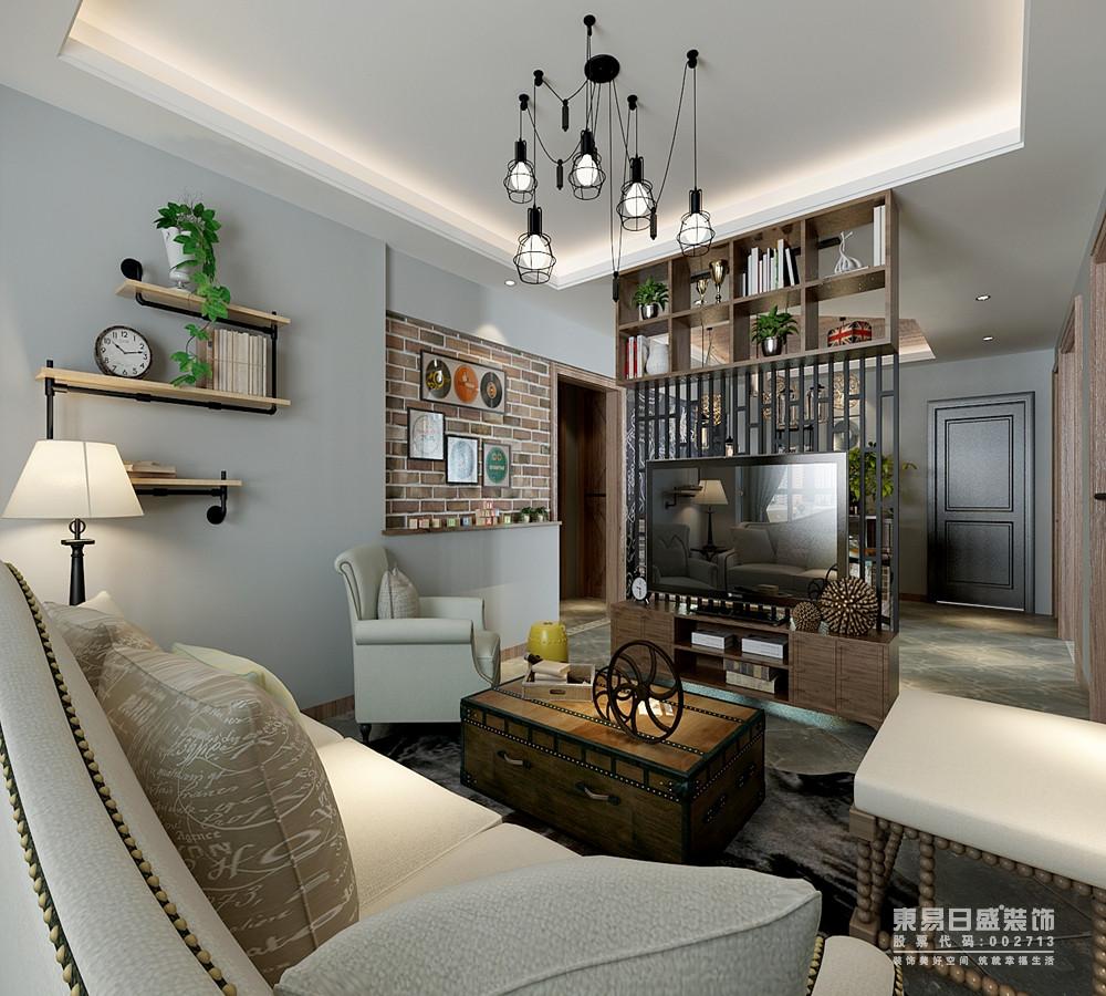 客厅里温润的木质从地面到电视隔断墙,并与其他背景墙形成层次;同样木色电视柜与茶几保持一致,平衡中沙发与墙面色调相近,浅淡的色彩素雅明快;空间在灰白木色中,被诠释的温雅又沉稳。