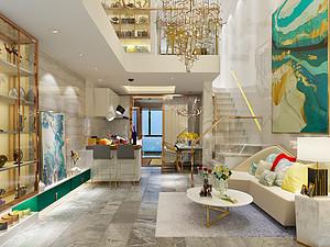桂林百年薈?城市廣場樣板房公寓120㎡現代輕奢裝修風格