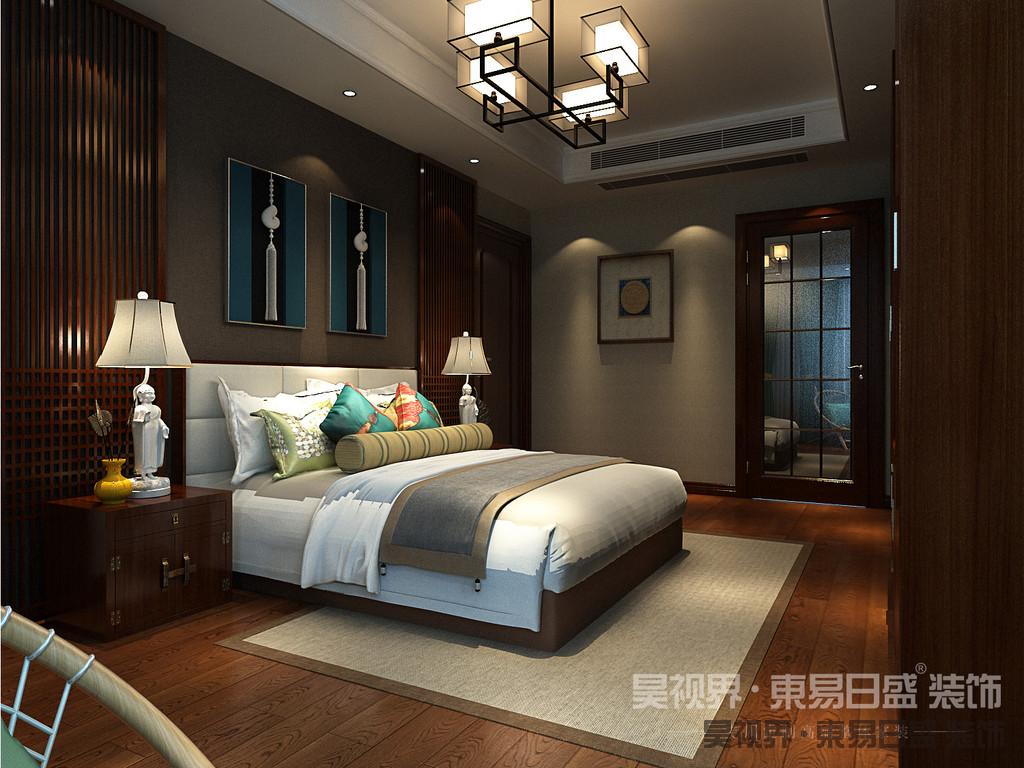 在卧室中,优质的木材以及简洁的空间给人一种返璞归真的视觉效果,给人一种传统家居的文化气息。