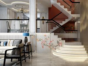 中式風格走廊裝修效果圖
