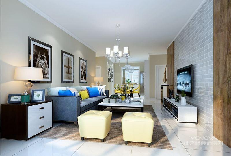可以选用硬朗的红色为主色调,可以在整体居室环境中采用红色的地板铺贴,在加上蓝白相间的窗帘,与地面的红色形成鲜明的对比,同时家具和天花板、墙面都采用白色,使得空间中的设计相得益彰