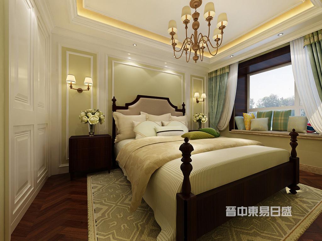 次卧考虑到有客用功能的同时,更多的倾向于做为儿童房使用,因此在色彩搭配上,一方面要尊重客户并不需要太过于童趣的需求,又不至于过于沉闷,因此使用一抹柠檬绿让这个卧室略有活泼之意。