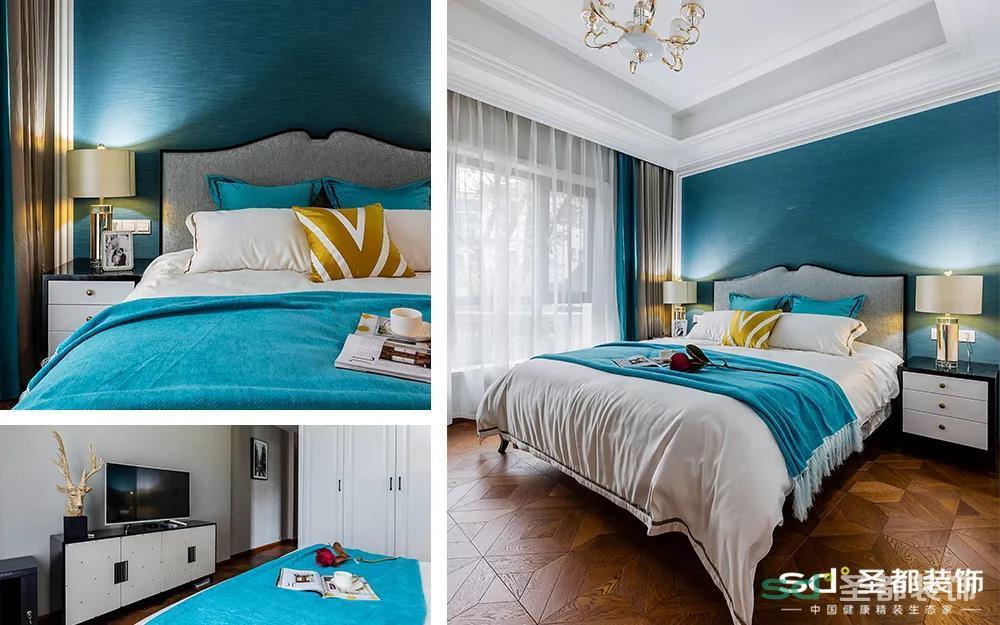 各个房间的地板都是棕色调的实木复合地板,但是也做了部分差异,孩子房间是灰棕色的,另外两个次卧是奥古曼色。