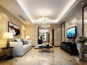 金辉世界城简欧风格 110㎡三室两厅110平米三居室