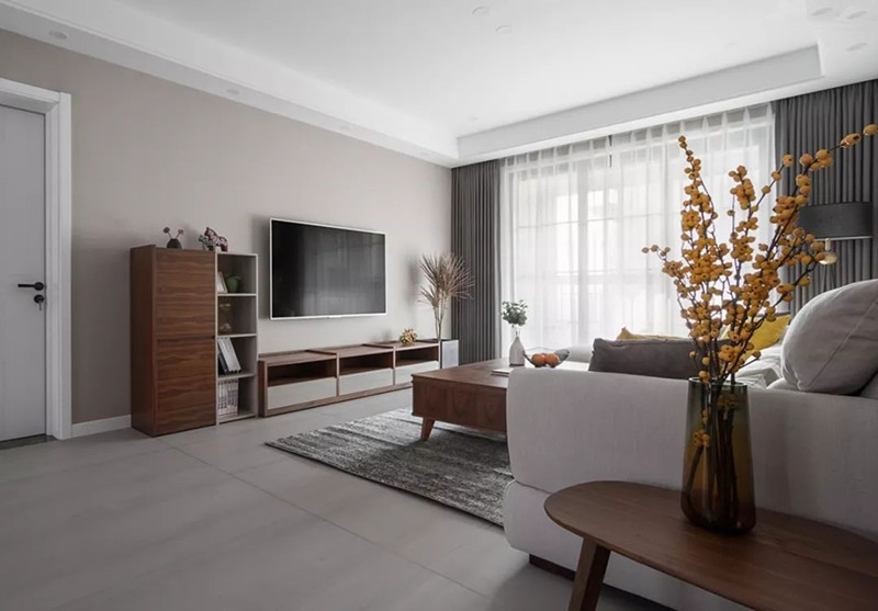 客厅电视背景墙简单大方