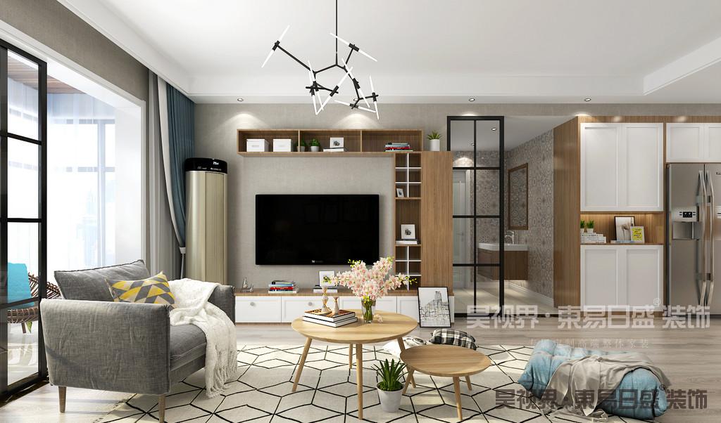 客厅除了满足正常的生活功能外,展现一个家的美貌必不可少。白净的基底下,柔和的色彩,利落的线条,有温度的原木色,都让这里轻松而美好。