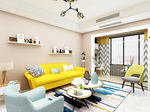 温柔港湾68㎡ 简约两居设计0平米二居室