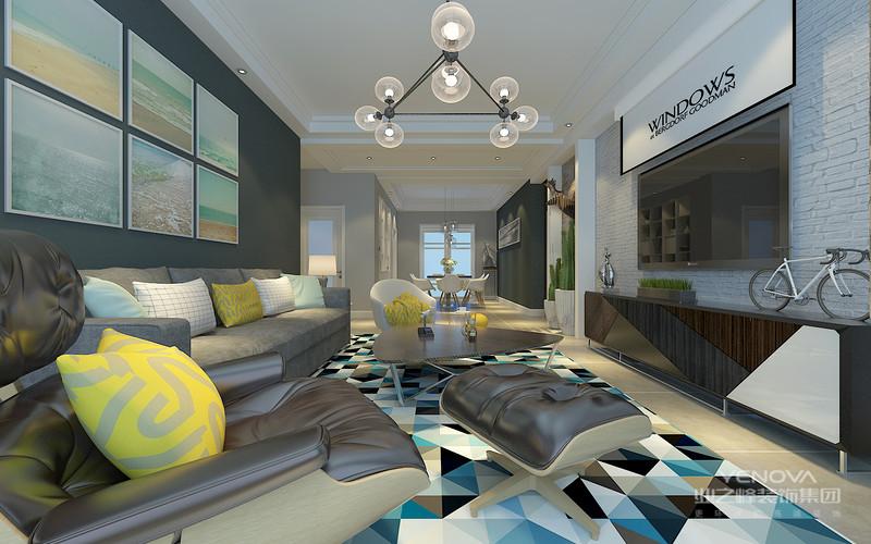 简明的线条剪裁和素净质朴的家具组合,构建出舒简约、质朴的生活空间,让人身心舒畅,感到宁静和安逸。藉着室内空间的解构和重组,便可以满足业主对悠然自得的生活的向往和追求,缔造出一个令人心弛神往的写意空间。北欧以简约著称,具有很浓的后现代主义特色,注重流畅的线条设计,代表了一种时尚,回归自然,崇尚原木韵味,外加现代、实用、精美的艺术设计风格,正反映出现代都市人进入新时代的某种取向与旋律。北欧风格设计貌似不经意的搭配之下,一切又如浑然天成般光彩夺目。任何一个空间,总有一个视觉中心,而这个中心的主导者就是色彩。北欧