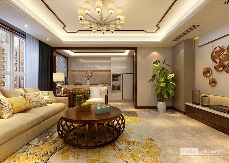 开放式厨房,客厅与厨房进行无缝连接,整个视野十分宽阔