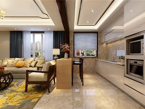 新中式風格廚房裝修效果圖