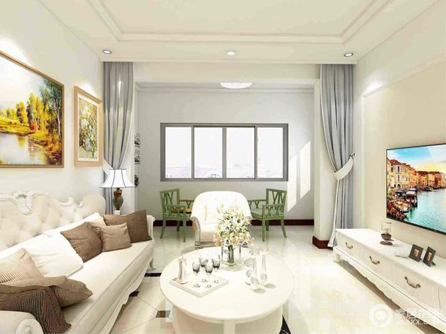 本案应女主人要求,喜欢简欧的家具,但是不喜欢复杂的吊顶及繁琐的装饰。