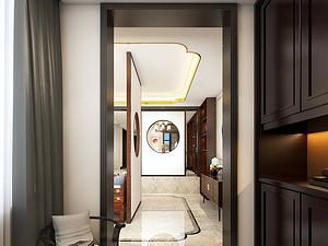 中式风格门厅装修效果图