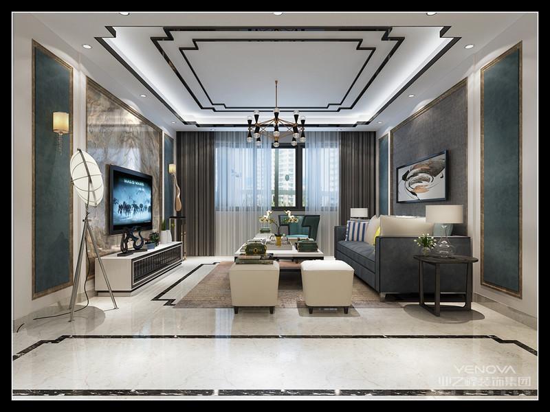 """本案的设计风格为现代简约风,设计重点为入户玄关、客厅、及主卧,""""入户玄关""""属于全房设计的起始点,为住户设计了方便换鞋的座椅及可放鞋,可挂衣帽、雨伞的储物柜。""""客厅""""是休闲、交友娱乐中心,整体色彩以浅灰为主,电视背景墙以简单的大理石饰面设计,两侧墙纸则采用清新的素色纹理。沙发背景墙以浅灰色和绿色壁纸为主配以装饰画,简洁中不失设计感,沙发两侧的矮柜更可以解决家中植物、装饰品和杂物的放置,整个客厅没有复杂的线条和过度的装潢,显得干净、简洁、大方。 主卧是睡觉休息的地方,忙碌了一天最想在舒适的房间休息,主卧"""