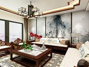 78㎡嘉意天和  新中式两居设计0平米二居室