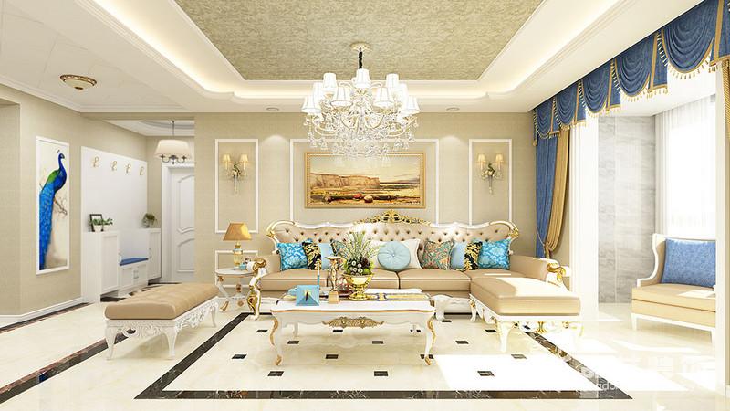 任和苑-客廳沙發背景墻