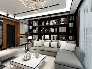 现代范爆棚  86㎡三居设计0平米三居室