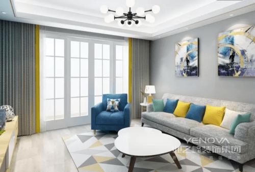 简约风格,使用了时下比较流行的灰色作为主色调,在嘈杂的城市中多了份安静。