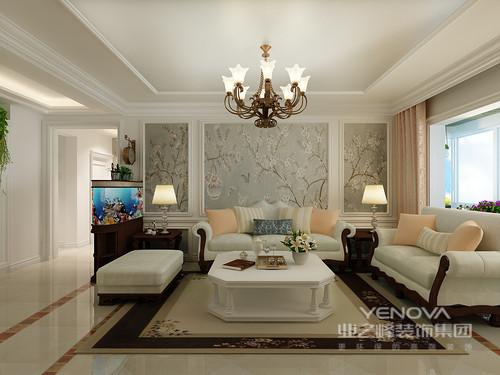 客厅淡雅的沙发与背景墙上的花卉壁纸,搭配的自然又小清新;木质则沉厚朴质,在印花的衬托下,愈发彰显空间的田园属性;而布艺上的橙粉色,带着轻甜感点缀其间,瞬间使空间溢满浪漫的味道。