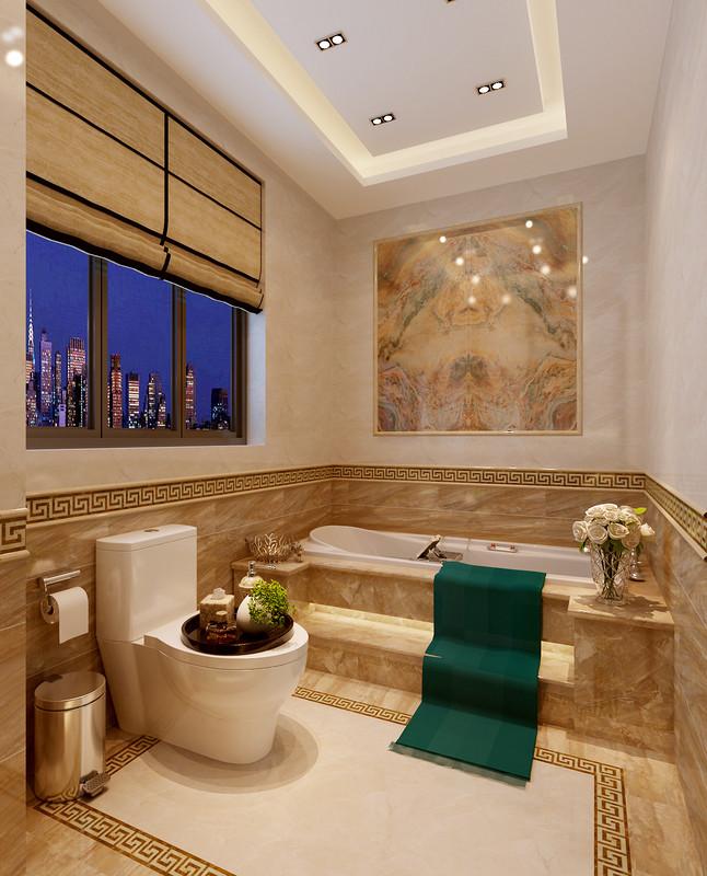 名仕温泉国际城别墅-新中式风格-客卫效果图