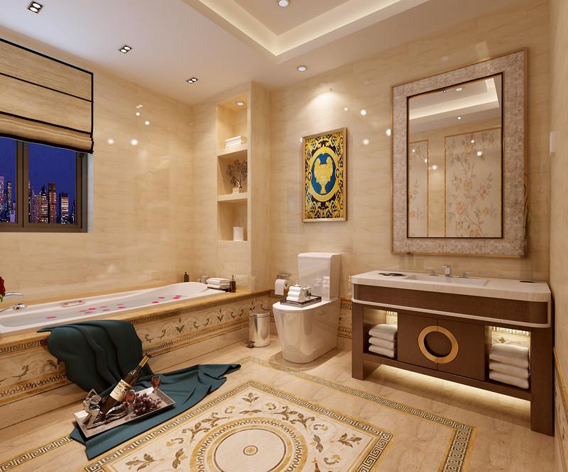 名仕温泉国际城别墅-新中式风格-主卫效果图