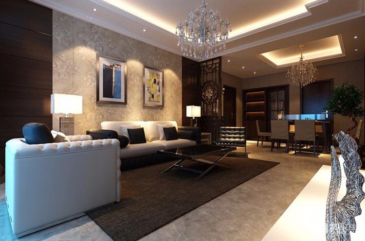 客厅里面,白色的沙发搭配,既让客厅脱离了浓重色彩带来的沉闷感,又让使得客厅的颜色不会过于跳脱。