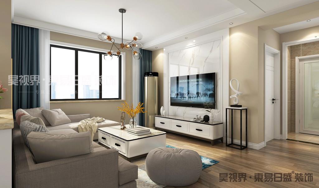 客厅墙面刷暖调高级灰色漆,将美感发挥到极致。