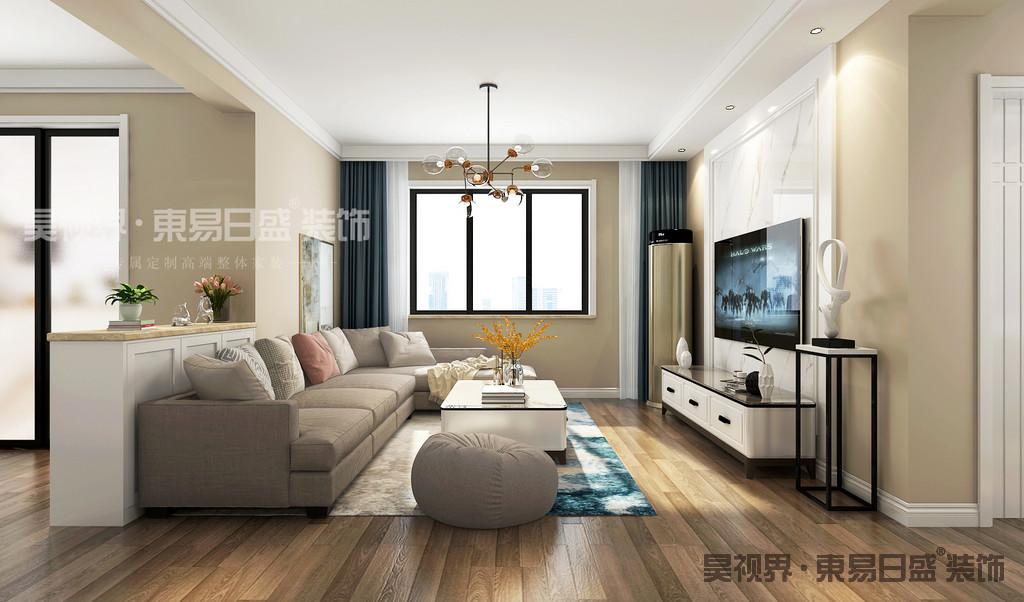 窗户让客厅有了很好的自然光线效果,营造一个放松身心的空间。