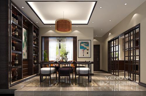 餐厅,中式的家具为主,更具有文化韵味和独特风格,体现中国传统家居文化的独特魅力。