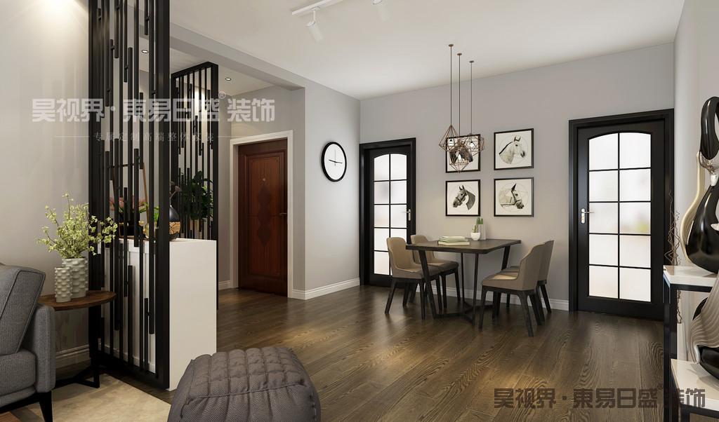 黑白灰的后现代简约风格是当下很受人们欢迎的一种设计搭配,或白或灰的色调,让餐厅显得既稳重而又不失时尚。