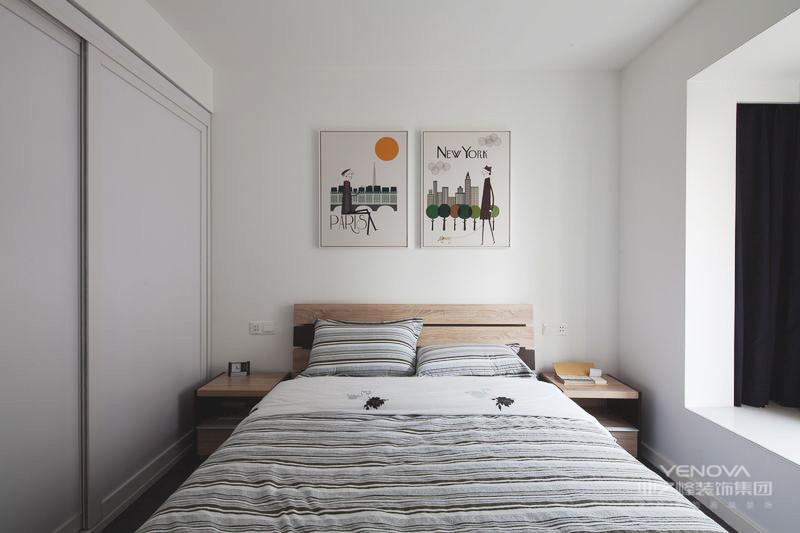 次卧简单干净,空间紧凑