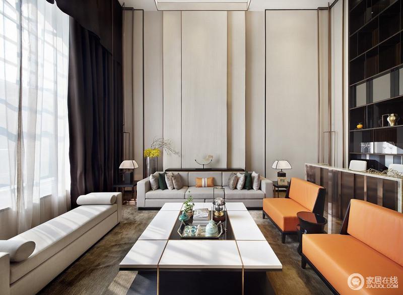现代人的生活方式融入古典美学改变风格生活环境,加入跳色与时尚之美。